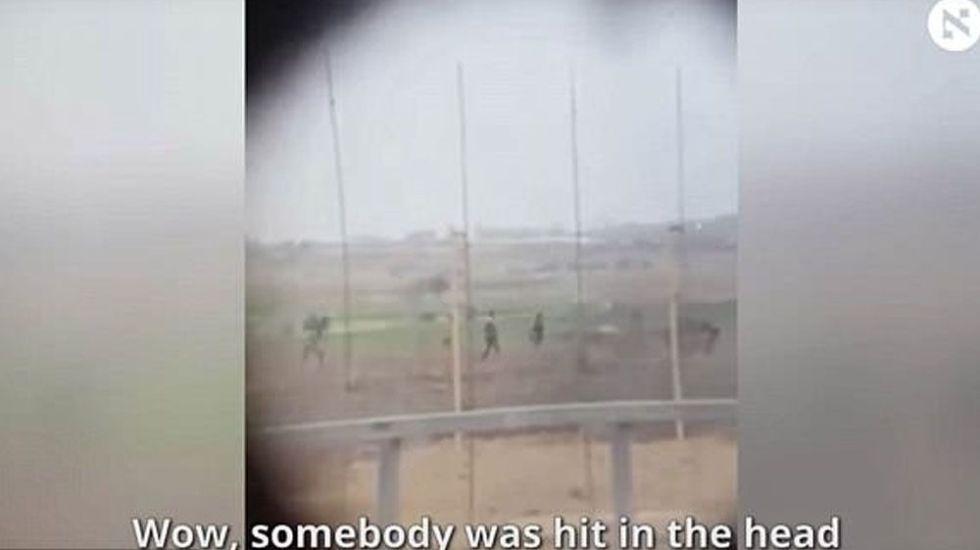 #Video Soldado israelí dispara a manifestante palestino