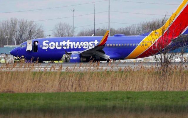 #Video Falla de motor en pleno vuelo de Southwest deja un muerto - Foto de NBC