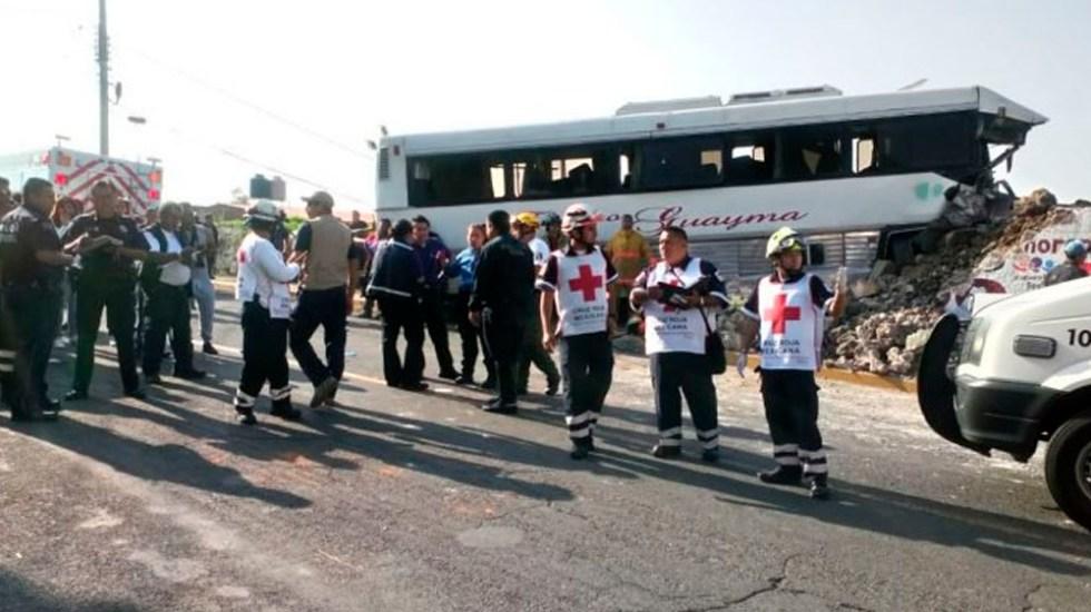 Choque deja al menos 30 heridos en Morelos - Foto de Quadratín