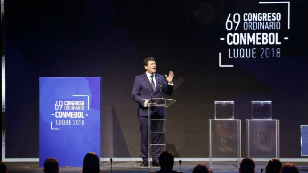 Domínguez renueva mandato en la Conmebol con 'la casa en orden'