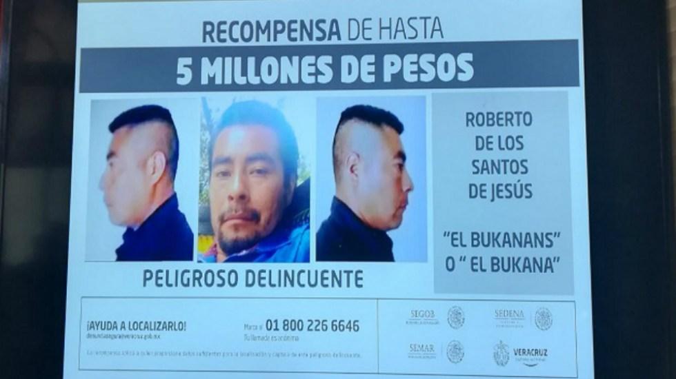 Elevan en Veracruz recompensa a 5 mdp por 'El Bukanans' - Foto de Gobierno de Veracruz