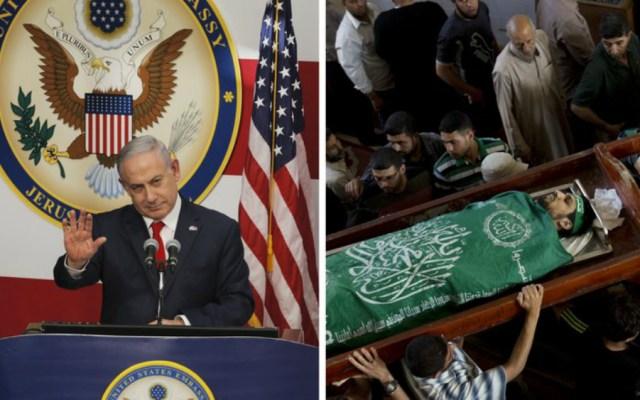EE.UU. celebra nueva embajada en Israel, pero calla sobre los muertos en Gaza - Foto de AP