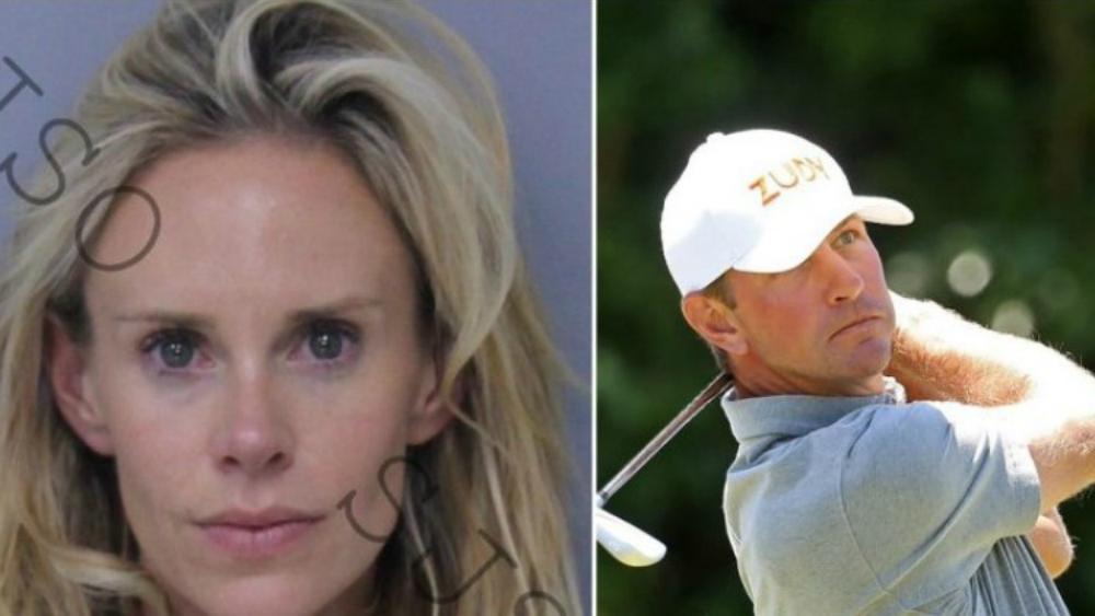 Arrestan a esposa de golfista por golpearlo tras jugar mal