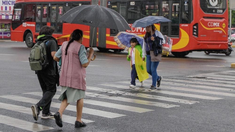 Alertan por lluvia y viento en seis delegaciones