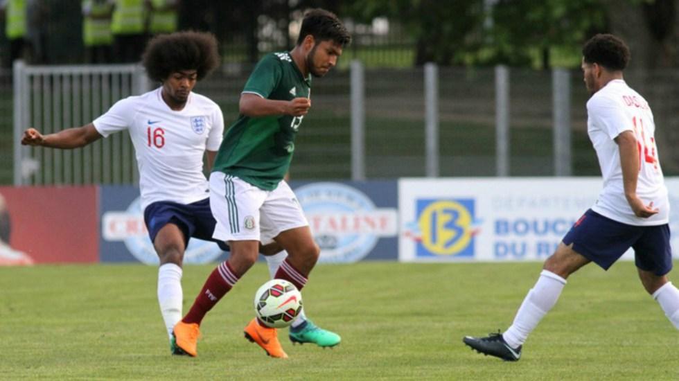 México e Inglaterra empatan en el Esperanzas de Toulon - Foto de festival-foot-espoirs.com