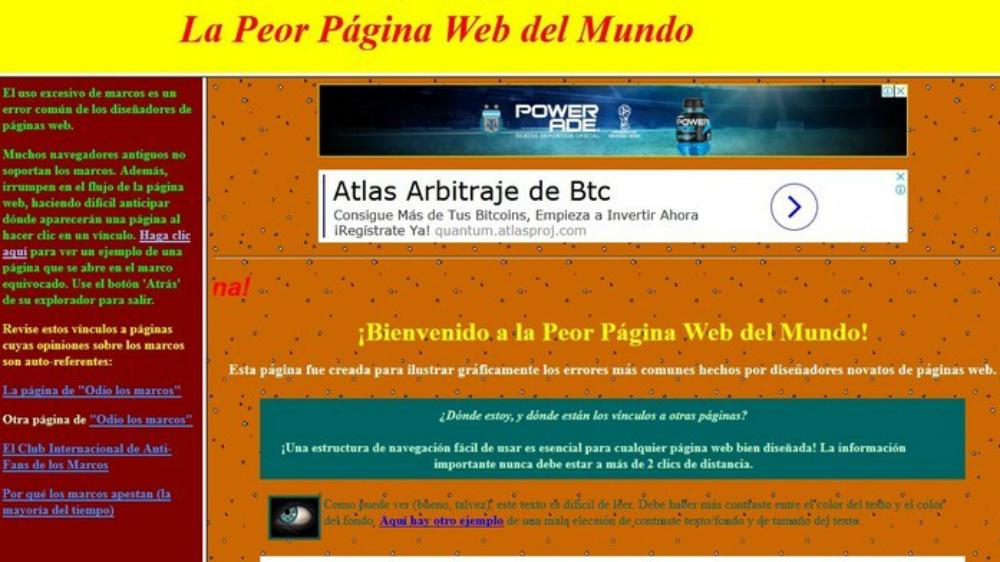 ¿Cuál es la peor página web del mundo? - Foto de Peor Página Web del Mundo