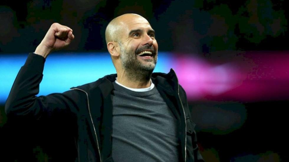 Guardiola renovó contrato con Manchester City hasta el 2021 - Foto de Manchester City