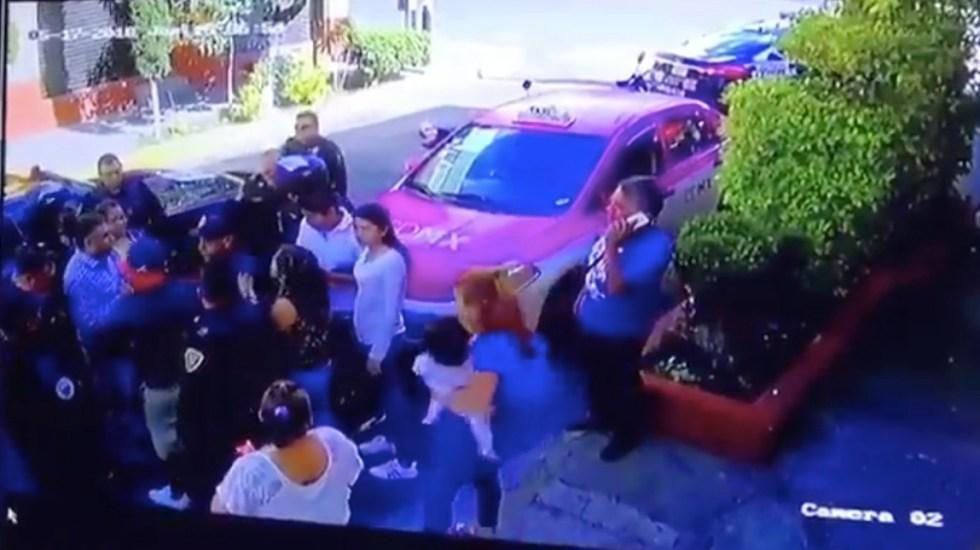 #Video Detenido en Coyoacán provoca riña - Captura de Pantalla