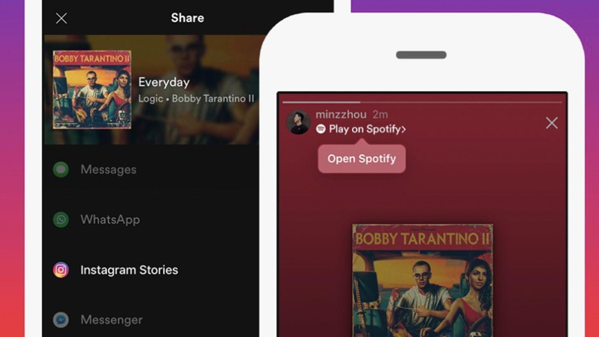 Instagram y Spotify en una nueva función para compartir música