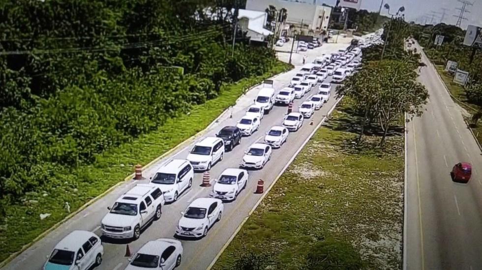 Taxistas paralizan Quintana Roo por ley de movilidad - Foto de Internet