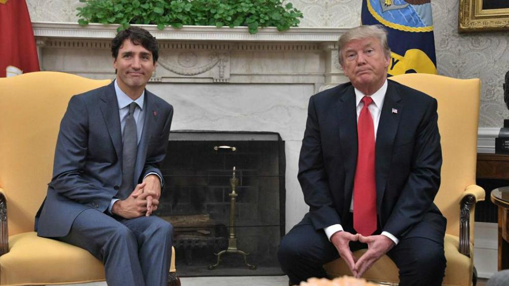 Trudeau recibe en cumbre de G7 a Trump