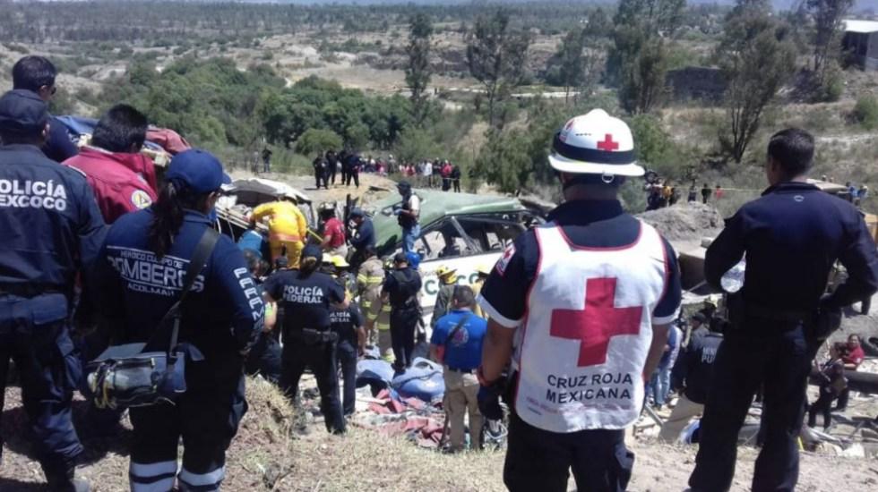 Suman 11 muertos por accidente carretero en el Estado de México - Foto de @josecal84645843