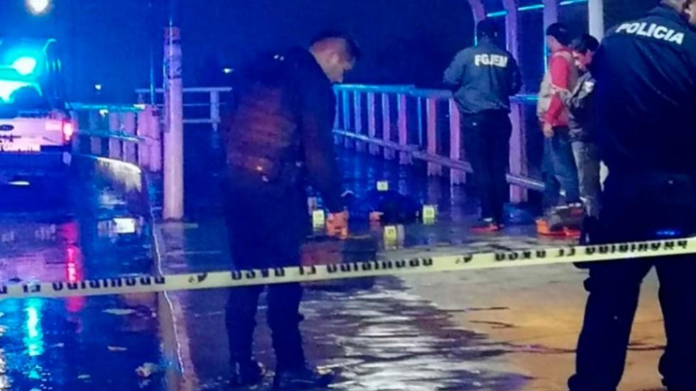 Asesinan a joven en entrada del Metro Nezahualcóyotl - Foto de Excélsior