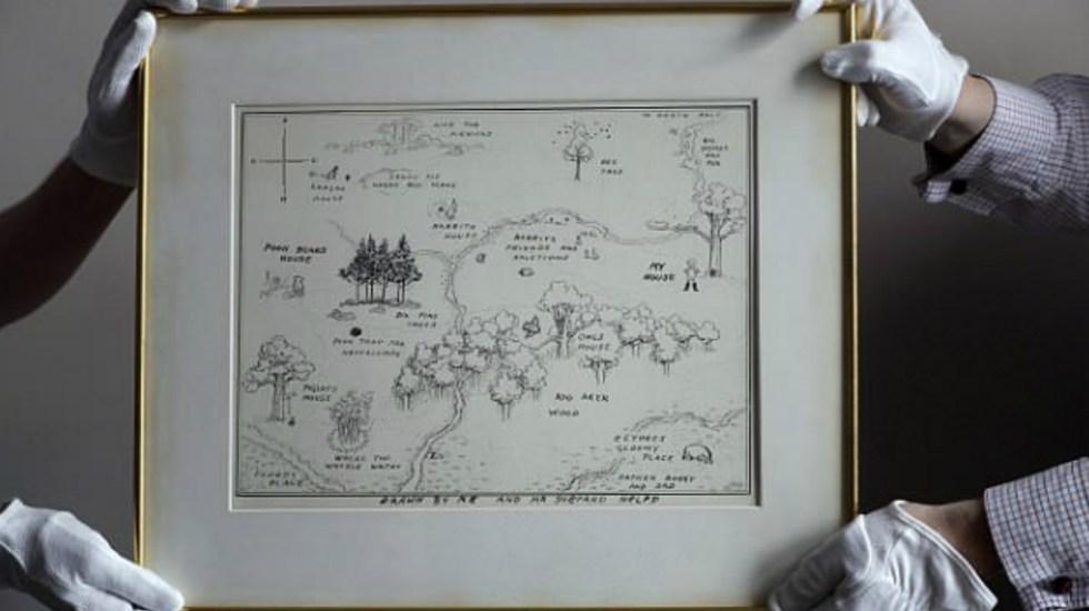 Subastarán mapa original de Winnie the Pooh - Foto de AP