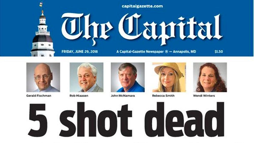 Periódico de Maryland publica su primera página tras tiroteo en sus oficinas