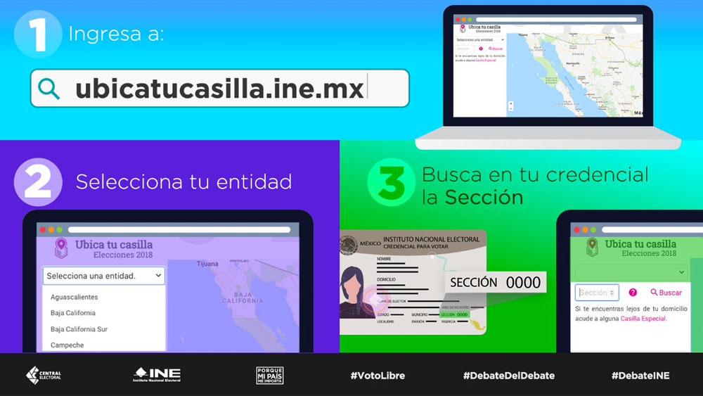 ¿Cómo ubicar tu casilla por internet? - Foto de @INEMexico