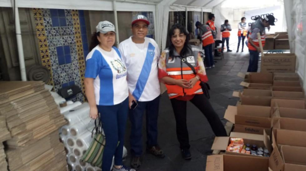 En operación centro de acopio en Zócalo para damnificados de Guatemala - Foto de @SPCCDMX