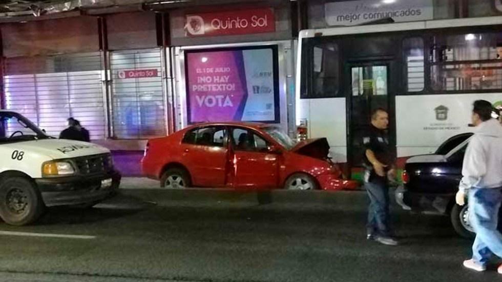 Muere conductor ebrio tras chocar contra Mexibús en Ecatepec - Foto de Excélsior