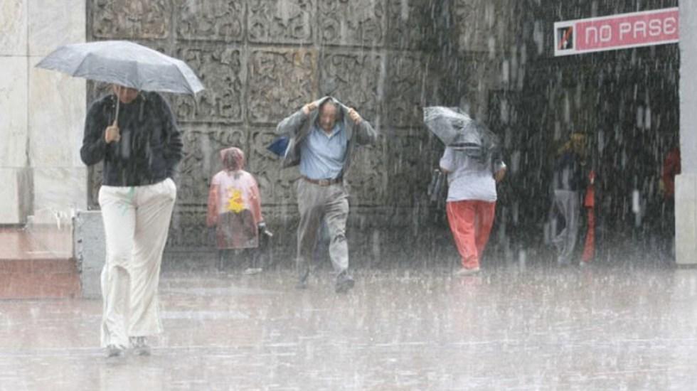 Lluvias y chubascos por la noche en el Valle de México - Foto de El Economista