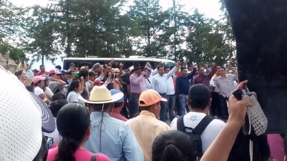 Maestros de la CNTE salen en caravana de Oaxaca a la CDMX - Foto de @SECCIONXXII