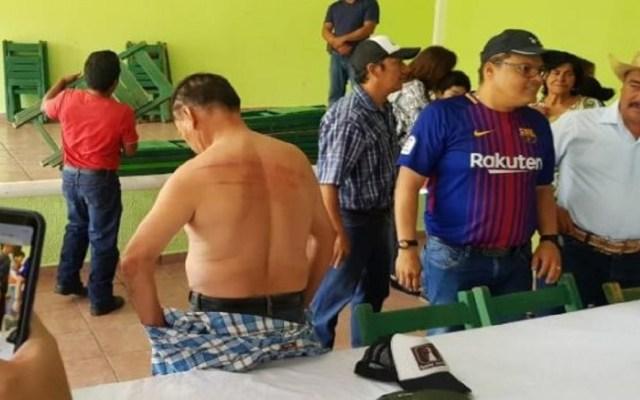 Dan cinturonazos a militantes del Partido Verde por compra de votos - Foto de El Universal