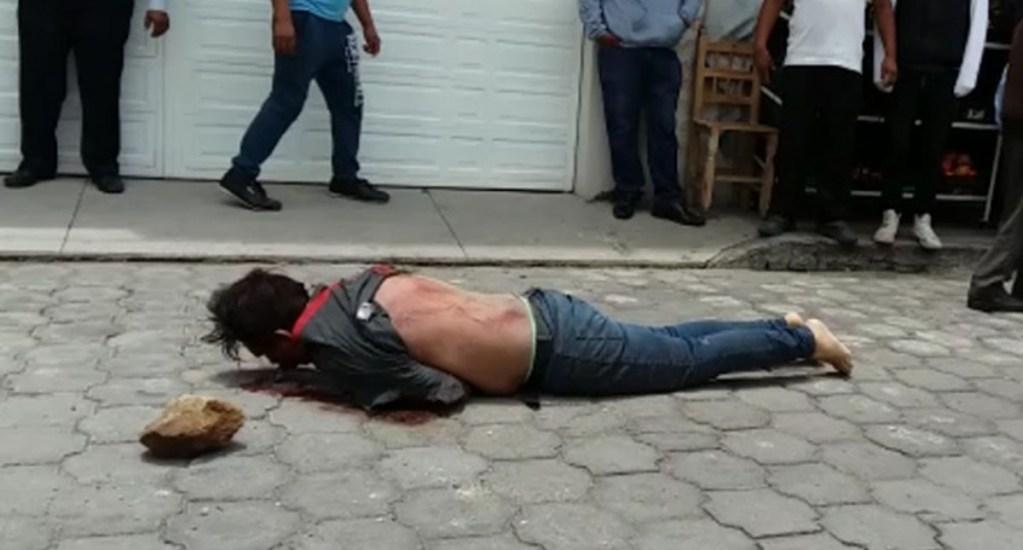 #Video Intentan linchar a ladrón y después muere en hospital en Tlaxcala