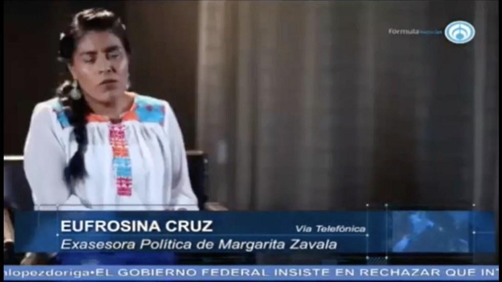 """""""Las mujeres tenemos que estar en los espacios de decisión"""": Eufrosina Cruz - Captura de Pantalla"""