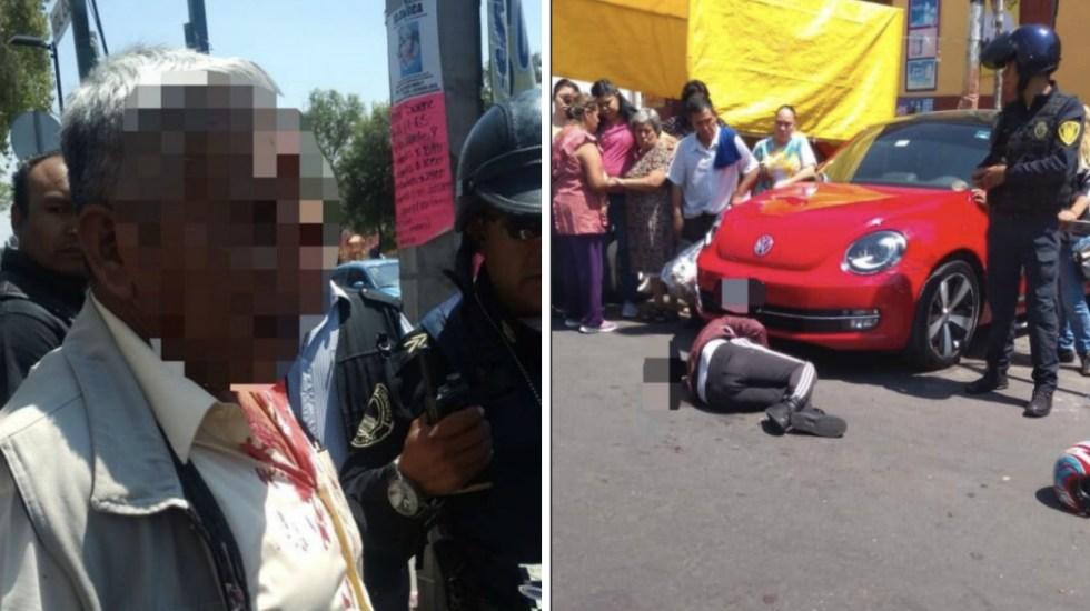 Liberan a militar retirado que disparó contra dos presuntos ladrones en Ciudad de México - Fotos de @djrhynomixlg y @MrElDiablo8