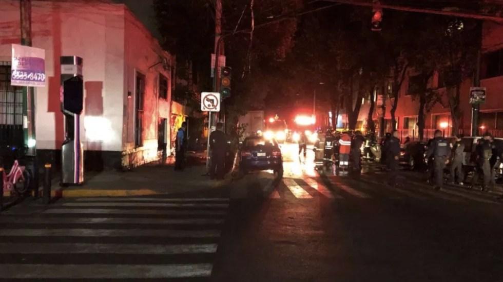 Fuga de gas ocasiona incendio en la San Rafael - Foto de @252COMS