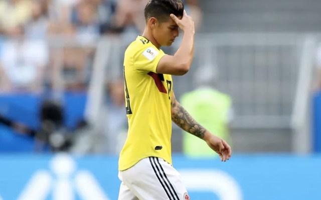 Descartan a James Rodríguez para el Colombia vs Inglaterra - Foto de Getty