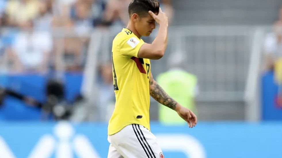 Descartan a James Rodríguez para el Colombia vs Inglaterra - Foto de Getty