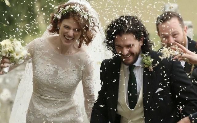 Kit Harington y Leslie Rose se casan - Foto de Internet