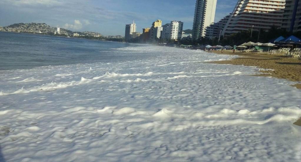 #Video Alertan por mar de fondo en Guerrero - Foto de @PC_Guerrero