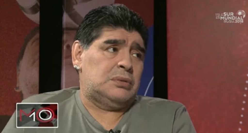 #Video Maradona reaparece en televisión para desmentir su muerte - Foto Captura de Pantalla