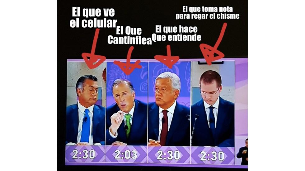 Los memes del Tercer Debate Presidencial - Foto de @JoaGaMo