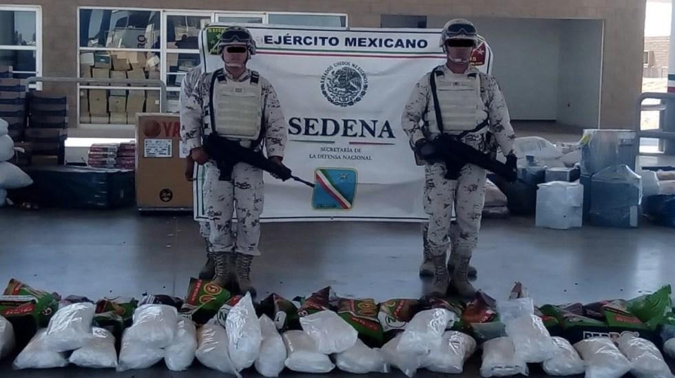Aseguran 290 kilogramos de metanfetaminas en Sonora - Foto de Internet