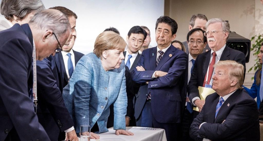 Donald Trump asegura que tiene una buena relación con Merkel - Foto de @RegSprecher