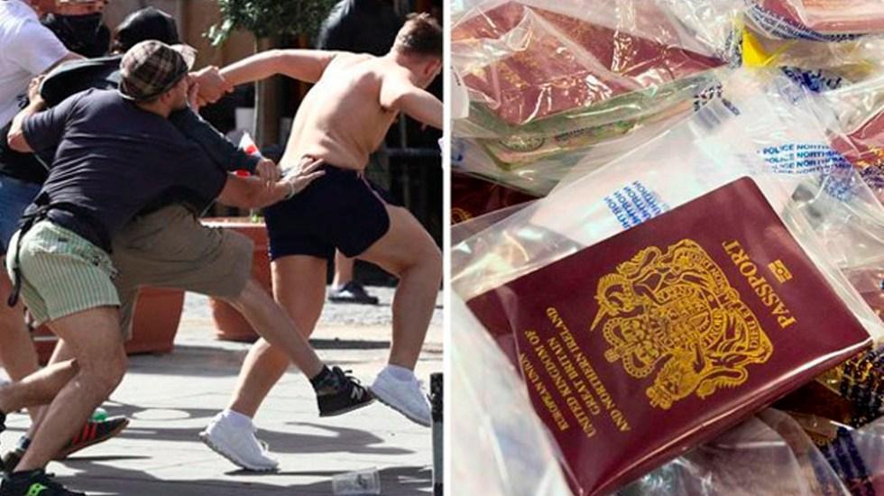 Confiscan pasaportes a hooligans ingleses por Mundial 2018 - Foto de @Daily_Star