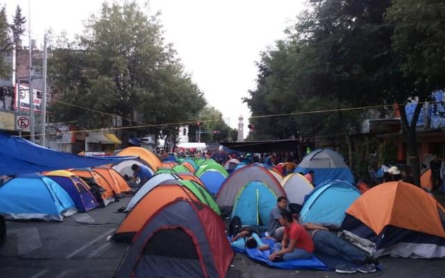 Plantón de CNTE en Bucareli deja pérdidas por más de 6 mdp - Foto de @Milenio