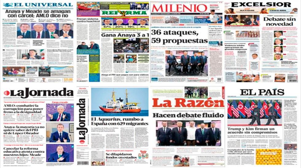 Todo lo que publicaron los periódicos del Tercer Debate Presidencial