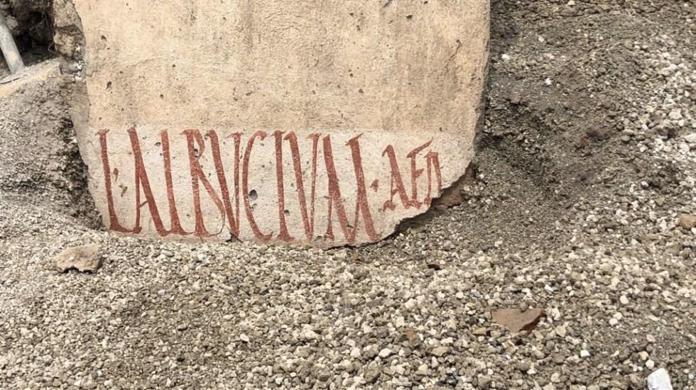 Hallan en Pompeya propaganda electoral de la Antigua Roma - Foto de @pompeii_sites