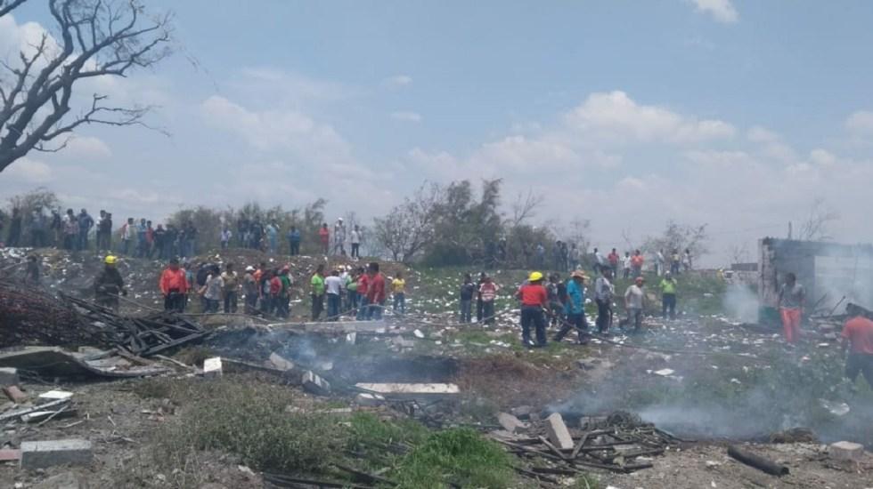 Explosión en Tultepec deja al menos un muerto - Foto de Twitter