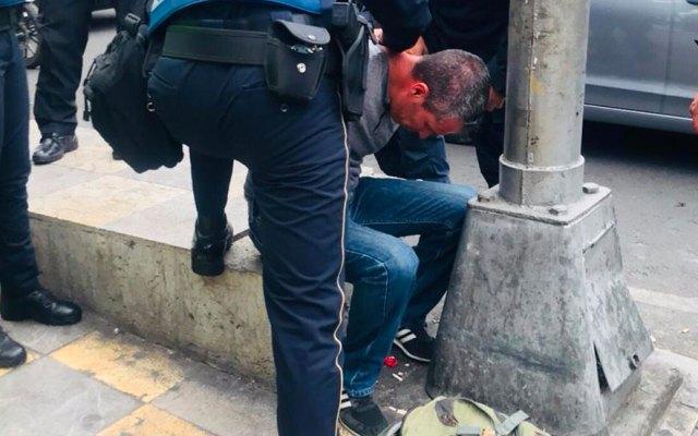 #Video Detienen a presunto asaltante en inmediaciones de Metro Nativitas