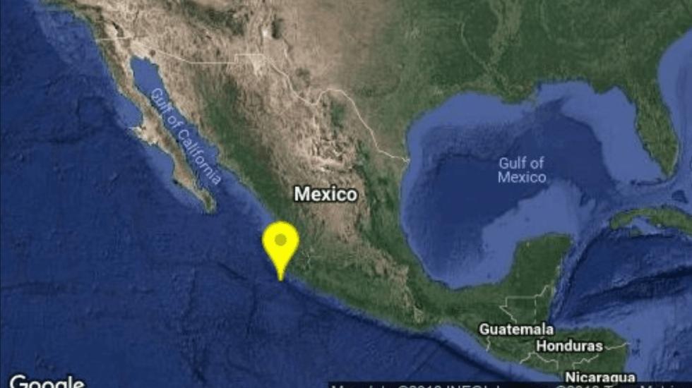 Sismo magnitud 5.9 en los límites de Colima y Jalisco