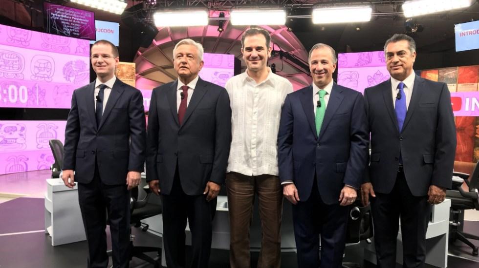 Los cuatro candidatos presidenciales. Foto de INE