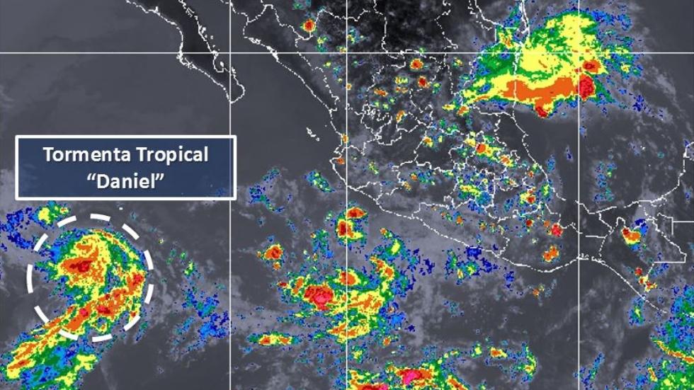 Se forma la tormenta tropical Daniel en el Pacífico