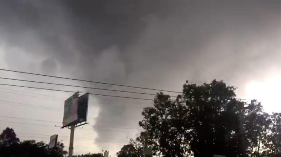 #Video Se forma supuesto tornado durante tormenta en Guadalajara - Captura de Pantalla