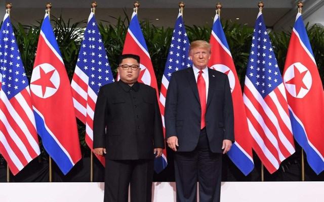 Corea del Norte se convertirá en una potencia económica: Trump - Reunión entre Kim Jong Un y Donald Trump. Foto de El País