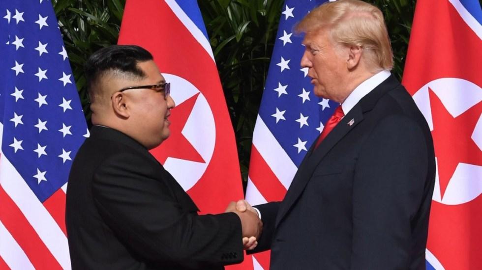 Corea del Norte rechaza invitación de Trump para nueva cumbre - Cumbre entre Kim Jong-Un y Donald Trump en junio de 2018. Foto de El País