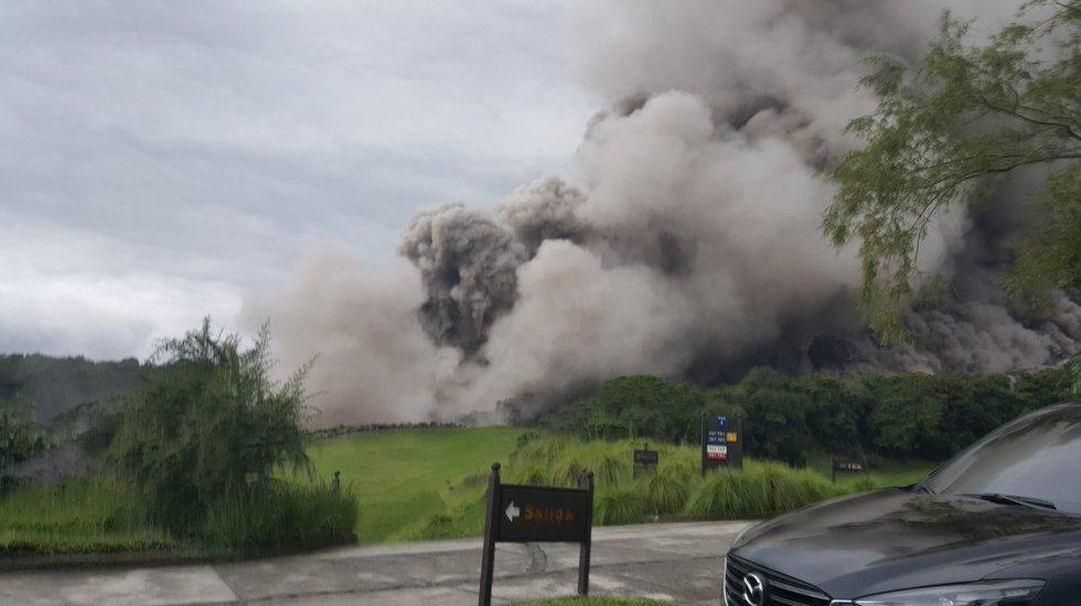 Erupción del volcán en Guatemala no afectará Oaxaca - Foto de @Sara_SotoG